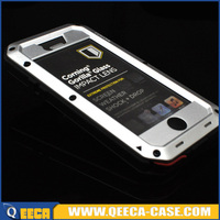 Shockproof gorilla glass brushed aluminum for iphone 5 case