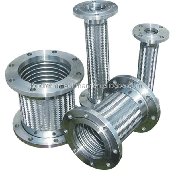 Cf flanged stainless steel vacuum bellows pipe joint