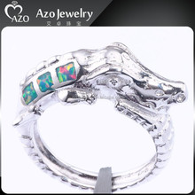 New Fashion 925 Sterling Silver Dragon Engagement Rings with Opal