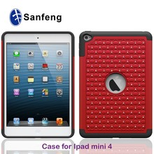 shining silicon case covers for ipad mini 4
