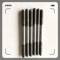stainless steel double end m12 stainless steel bolt nut washer