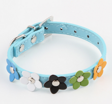 Hot Adjustable Pet pu flower design Collar