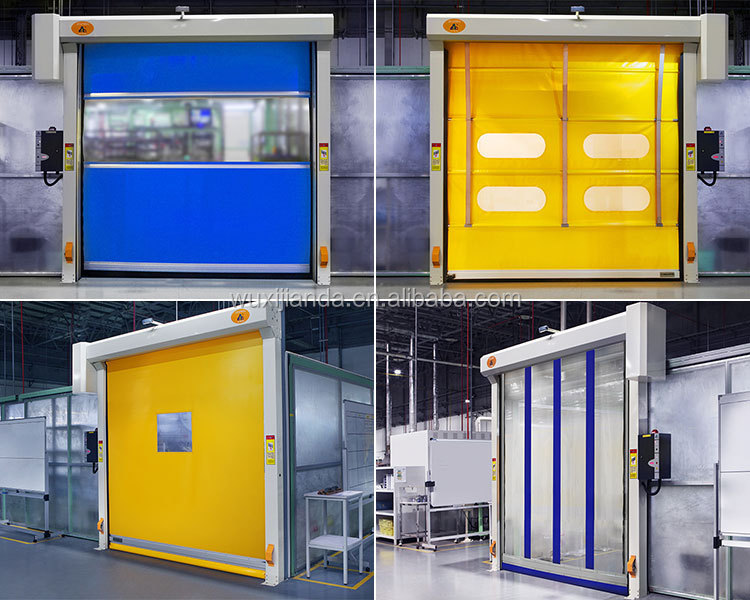 Industrial Automatic Doors : Automatic plastic electric sliding doors for industrial