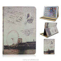 Retro Sky wheel Design PU Leather Flip Stand Smart Tablet Covers Case For iPad Air 2 For iPad 6 From Factory