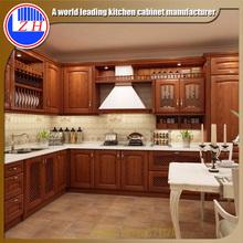 Luxury Modular beech wood custom kitchen remodeling ready to asseble