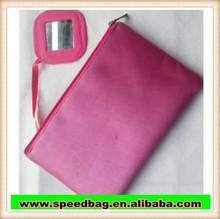 hot sale cosmetic bag with mirror satin makeup bag R157