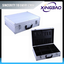 Aluminum large tool case with compartments,black aluminum barber tool case with inner tray,hard plastic tool case