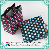 OEM colorful wholesale recycled small paper bags with handles