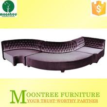 Moontree MSF-1189 sofa set designs purple corner wooden sectional sofa