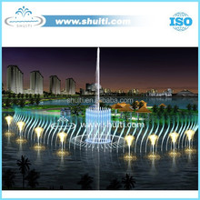LED Light and Dancing Musical Water Fountain Lake Big Fountain Floating Fountain