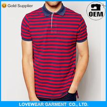 high quality slim fit polos men new fashion branded wholesale striped polo shirt
