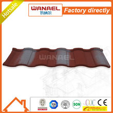 Roman Wanael stone coated steel roof tile/house roof cover materials/economic roof covering