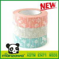 Manzawa print machinery for satin ribbons washi tape