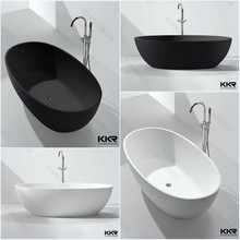 New design freestanding solid surface bathtub for soaking
