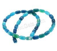 Gets.com oval shape blue color Natural Lace Agate Beads