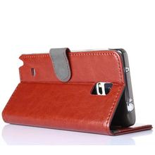 High quality leather wallet case for samsung galaxy note 4