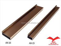 glossy champagne aluminum edge banding for kitchen cabinet framed door and glass door