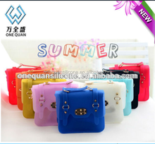 silicon bags fashion,candy color silicone bag,flexible rubber storage bags
