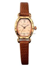 Hole sale leather band vintage wrist watch women
