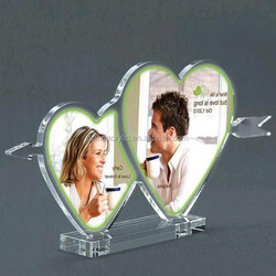 Wholesale high quality love photo frames acrylic picture photo frame