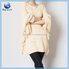 Casual fashion wholesale hot sell women's knitwear women cashmere pullover sweater, knit pullover sweater poncho customized