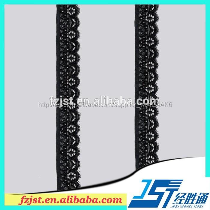 Черный белье кружева Embelishment для женщин свадебное платье 2.6 см