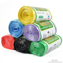 hot selling cheap HDPE/LDPE shopping color printing plastic bags on roll with paper label