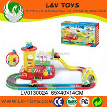 LV0130024 hot sale parking set,high quality parking lot with cartoon car
