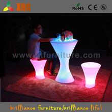 Alti base in acciaio inox incandescente led tabella partito/famiglia decorativi tavolo/ha portato tavolino