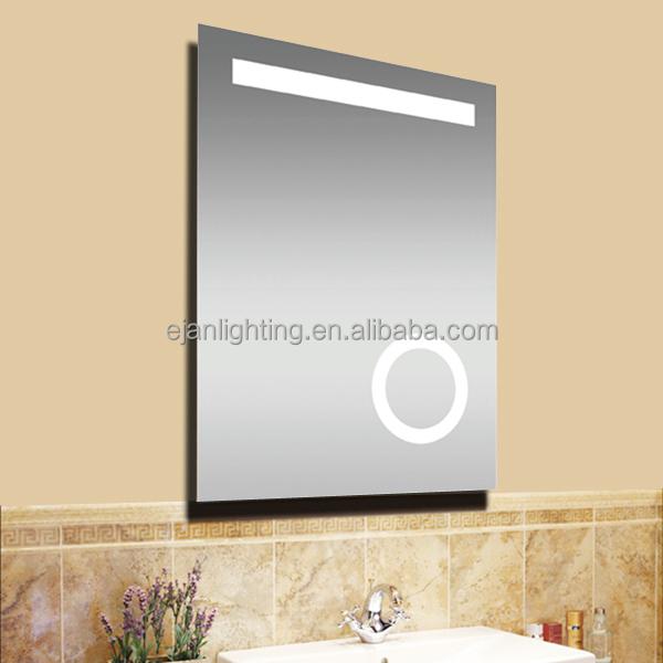 Ip44 ce sans cadre salle de bains led miroir avec 3x loupe for Miroir rectangulaire sans cadre