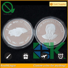 Exqusite embossing two faces Nelson Mandela token coin