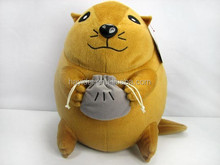 Hayidai yellow color cuddly mouse toys 12""