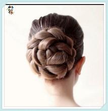 Wedding Bridal Ballet Synthetic Hair Bun Cover Chignon Updo Hairpieces HPC-0141