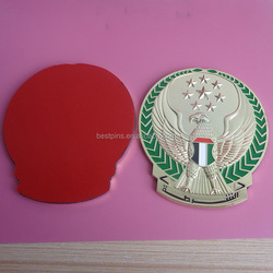 metal 3d UAE national day badges with 3m self adhesive