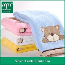 MMY 31 by 39 inch Applique Newborn Baby Blanket 100% Polyester Fleece Baby Gift Promotional