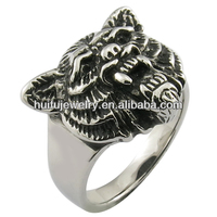 tiger head rings with mop black jewelry made in China factory