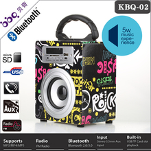 Creative fm radio wireless portable mini bluetooth speaker