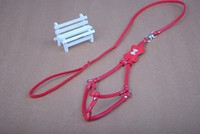 Size S M L Pink Red Cat Pet Chain Leads Collar Dog Leash Leather