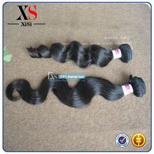 2014 Best selling brazilian human hair body wave no heat hair straightener