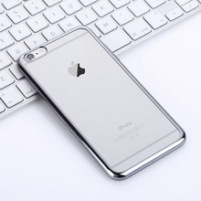 Ultraslim Mirror Aluminum Mobile Phone Case For iPhone 6s Luxury TPU Back Cover In Silver