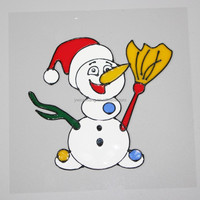 Christmas themed jelly window stickers, gel window stickers, soft pvs stickers for home decoration