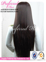 Wholesale beautiful long synthetic hair wig 30'' 4# silky straight lace front wig accept paypal and Escrow