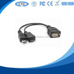 Custom usb otg cable for ipad 4/mini micro usb to usb cable otg cable for tv micro usb cable