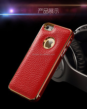2015 new smartphone leather bake case Aluminum bumper case for iphone 5s