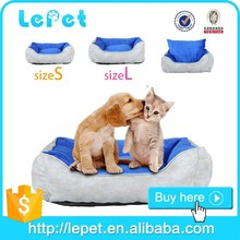 Hot sale washable handmade leather cheap dog sofa pet bed for dogs