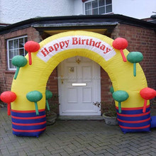 2014 advertising inflatable outdoor birthday arch