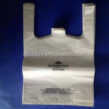 Plástico biodegradável T - camisa saco, Projetos personalizados e os logotipos bem vinda