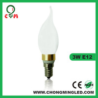led dimmable candle light bulb with flame tip