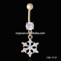 Vibrating Body Jewelry Gold Belly Button Rings Pictures