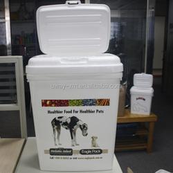 Open window cover design 15kg plastic pet food box,plastic dog food box